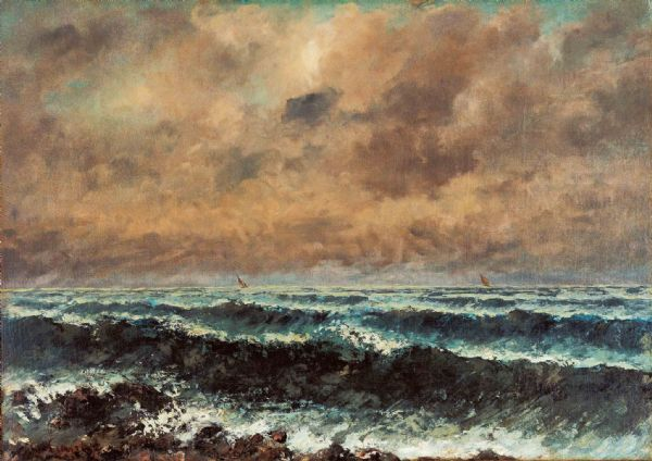 Courbet, Gustave: Autumn Sea. Fine Art Print/Poster. Sizes: A4/A3/A2/A1 (003983)